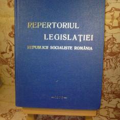 Repertoriul legislatiei republicii socialiste romania - Carte Legislatie