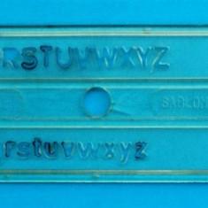 Sablon litere pentru tras in tus - 0, 5 mm - Instrumente desen
