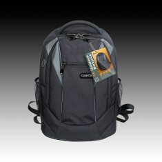 RUCSAC LAPTOP - Geanta laptop, 15 inch, Poliester, Negru
