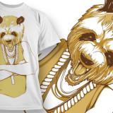 Tricou personalizat Bad Panda printeo