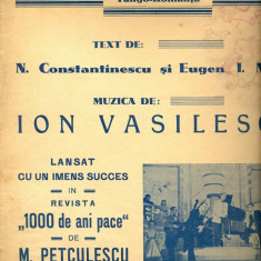 274 PARTITURA antebelica- O zi de toamna -tango-romanta- text N.Constantinescu si Eugen Mirea -muzica Ion Vasilescu-starea care se vede