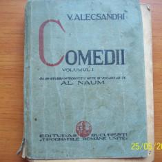 COMEDII ,VOL I  ,VASILE ALECSANDRI-1934