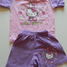 Set de doua piese, ideal vara, compleu din tricou si pantalonasi scurti pentru fetite, 1-2 ani, pentru 80-86 cm, Culoare: Din imagine