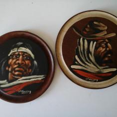 Set tablouri - pictura pe lemn - Reproducere