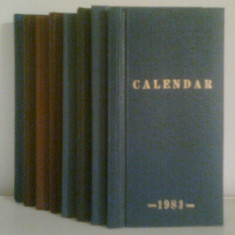 CALENDAR - COLECTIE DE CALENDARE ORTODOXE (1981-1988)