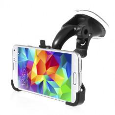 Suport Parbriz Samsung Galaxy S 5 G900, Rotatie 360°, Negru - Suport auto