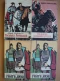 Lot de patru carti MIHAIL SADOVEANU-NICOARA POTCOAVA,NEAMUL SOIMARESTILOR,FRATII JDERI 2 volume, EDITURA TINERETULUI, colectia Cutezatorii ( cu romb), 1959