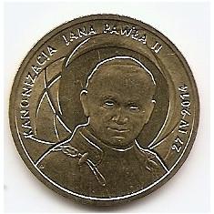 Polonia 2 Zloti 2014 Canonisation of John Paul II 27.IV.2014 KM-New UNC !!!, Europa