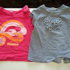 Set doua tricouri, de vara, fetite, 1-2 ani, 80-86 cm. COMANDA MINIMA 30 LEI!, Culoare: Din imagine, Fete