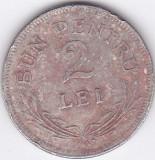 Moneda Romania (regat) 2 Lei 1924 (Bruxelles) - KM#47 Good