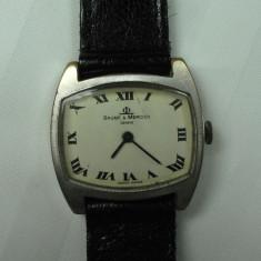 BAUME MERCIER - VINTAGE - CEAS ELVETIAN DE COLECTIE - DE DAMA - ANII 1960 - 70 - STARE DE FUNCTIONARE - Ceas de mana