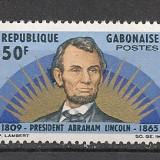Gabon.1965 Comemorare A.Lincoln-presedinte SG.193 - Timbre straine