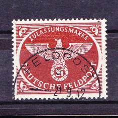 Timbre GERMANIA REICH 1942 = FELDPOST PAJURA SI ZVASTICA ST.