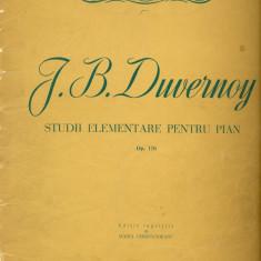 329PARTITURA - J.B.Duwernoy -studii elementare pentru pian Op.176 -editie ingrijita de Maria Cernovodeanu  -starea care se vede