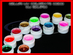 KIT SET 36 MODELE GEL GELURI GD COCO PT LAMPA UV COLOR COLORATE CU SCLIPICI 5ML