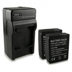 2 Acumulatori + Incarcator (inclus auto) AHDBT-201 AHDBT-301 100% compatibil GoPro HD Hero 3 | Hero3