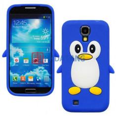Husa silicon pinguin Samsung Galaxy S4 i9500 i9505 + folie ecran