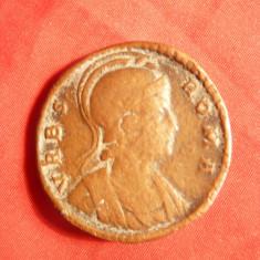 Sestert -Cetate Roma pe ambele fete - Copie veche FF Rara !, bronz, d=3, 2 cm - Moneda Antica