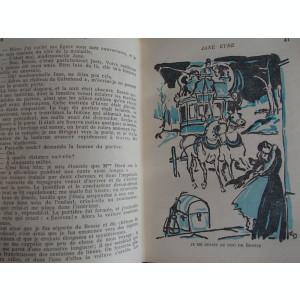 CHARLOTTE BRONTE - JANE EYRE * VOL.1 + VOL.2 * ILUSTRATII EMILIEN DUFOUR - HACHETTE - PARIS - 1947