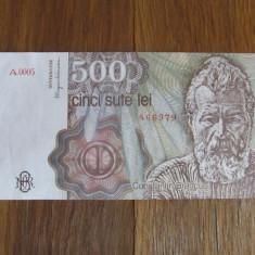 ROMANIA 500 LEI / 1991. aUNC - Bancnota romaneasca