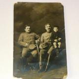 MOKAZIE! Fotografie veche - anii 1910 - Barbati in uniforma - copil - MILITAR - la pret final! - 2+1 gratis pt produse la pret fix - MOK245