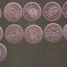 Lot monede Olanda-1 gulden Olanda ani diferiti