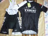 Echipament ciclism complet trek factory racing set tricou pantaloni cu bretele, Tricouri