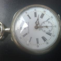 Ceas de Colectie Chrono Feuvrier Epinal - Ceas barbatesc Festina, Lux - elegant, Mecanic-Manual, Argint, Analog, Inainte de 1940