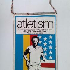 Fanion Federatia Romana de Atletism : juniori Romania - SUA, 11 - 12 iulie 1986 - Fanion fotbal