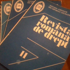 Revista Romana de Drept -diverse numere - anii 1967 -1989