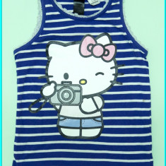 DE FIRMA _ Tricou / maieu bumbac, Hello Kitty, H&M _ fetite | 2 - 4 ani | 104 cm, Marime: Alta, Culoare: Mov, Fete