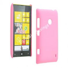 Husa plastic Nokia Lumia 520 + folie protectie ecran + transport gratuit