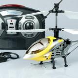 ELICOPTER PROFESIONAL CU 4 CANALE, 22 CM, INTERFATA USB, GYROSCOP, ZBOR 3D CA UNUL REAL, MODEL 2014! - Elicopter de jucarie, Metal, Unisex
