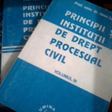 Principii si institutii de drept procesual civil 3 vol- Ioan Les - Carte Drept procesual civil