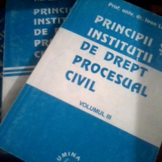 Principii si institutii de drept procesual civil vol I, II, III- Ioan Les - Carte Drept procesual civil