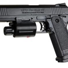 PISTOL AIRSOFT R-833A CALIBRU 6mm PROPULSIE LEGALA PE ARC 200fps, TINTA LASER+1000 BILE BONUS ! - Arma Airsoft