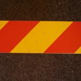 Panou reflectorizant-placa reflectorizanta-hasurata rosu+galben