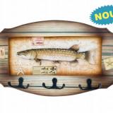 Suvenir pescar W#B tip cuier