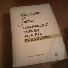 Culegere decizii ale Tribunalului Suprem pe anul 1964 - Carte Drept civil