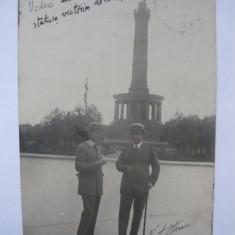 Autograf Victor Eftimiu si Soare Z. Soare pe o fotografie ( tip carte postala ) - - expediata de Victor Eftimiu lui Alexandru Marcu - 1914