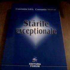 Starile exceptionale -Constantin Sava, Constantin Monac, Alta editura