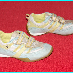 DE FIRMA _ Adidasi aerisiti, comozi, piele, originali, GEOX _ fetite | nr. 30 - Adidasi copii Geox, Culoare: Bleu, Fete, Piele naturala