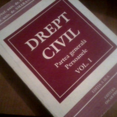 DREPT CIVIL, PARTEA GENERALA PERSOANELE VOL.I IOSIF R.URS - Carte Drept civil