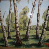 Tablou vechi pictor evreu - Pictor roman, Peisaje, Ulei, Realism