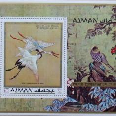 AJMAN - PICTURA, PASARI 1 S/S, NEOBLITERATA - AJ 003, Arta
