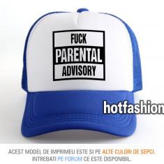 SAPCA, SEPCI TRUCKER, cu plasa, snapback - FUCK PARENTAL ADVISORY - exclusiv !