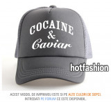SAPCA, SEPCI TRUCKER, cu plasa, snapback - COCAINE and CAVIAR - exclusiv !, Marime universala, Din imagine