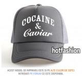 SAPCA, SEPCI TRUCKER, cu plasa, snapback - COCAINE and CAVIAR - exclusiv !, Marime universala, Din imagine
