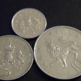 Set Anglia / Marea Britanie 3 monede diferite 5 si 10 pence calitate foarte buna