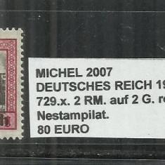 DETSCHES REICH 1938 - 729, 2RM.